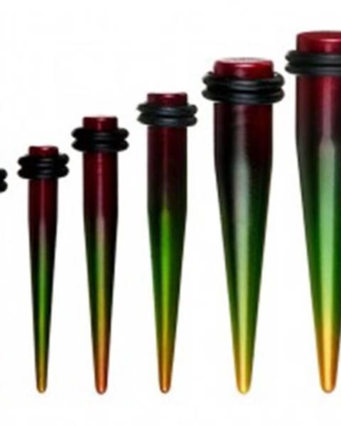 Farebný taper do ucha - rasta štýl S70.03/11 - Hrúbka: 10 mm