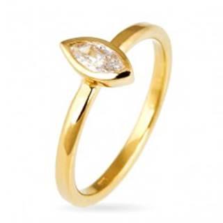 Prsteň zo striebra 925 - vystúpený zirkón v zrnkovej obruči, zlatý odtieň - Veľkosť: 50 mm