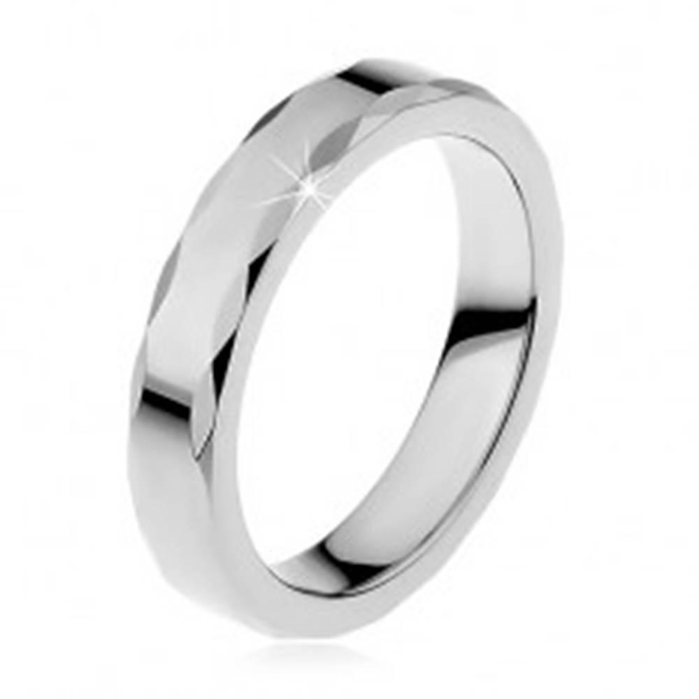 Dámsky wolfrámový prsteň so...
