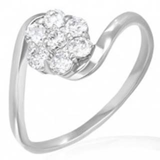 Snubný prsteň - dúhový kvietok zo zirkónov - Veľkosť: 50 mm