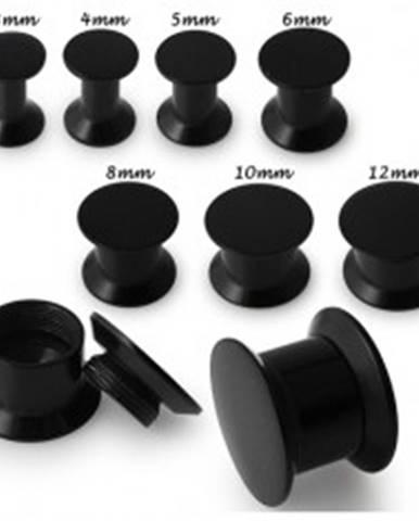 Plug do ucha s čiernym povrchom - Hrúbka: 10 mm