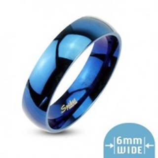 Modrá obrúčka s vysokým leskom - Veľkosť: 49 mm