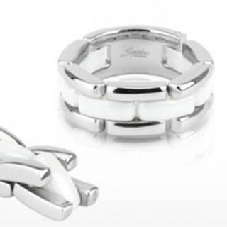 Trojradový oceľovo - keramický prsteň, flexibilný - Veľkosť: 48 mm