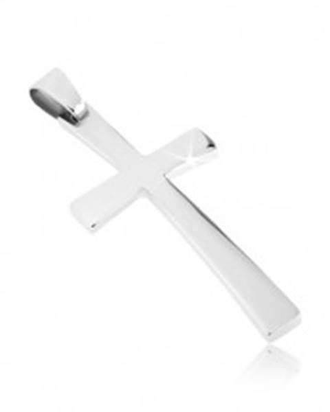 Prívesok z ocele - jemne zaoblený latinský kríž