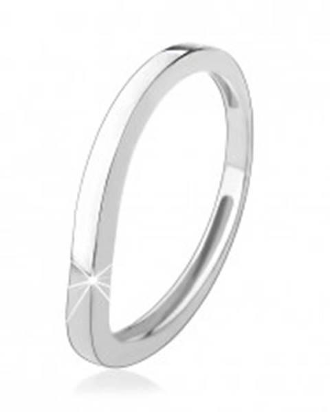 76ece034c Strieborný prsteň 925, zvlnená línia, lesklý hladký povrch HH5.11 - Veľkosť: