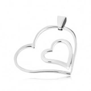 Oceľový prívesok - dvojité spojené srdce