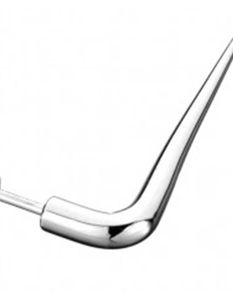 Oceľový piercing - labret, hladký háčik C33.2