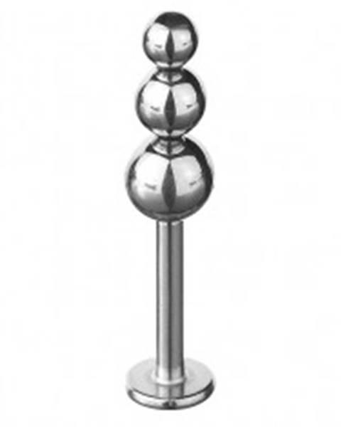 Piercing do brady a pery - trojitá zmenšujúca sa guľa C32.1 - Dĺžka piercingu: 7mm