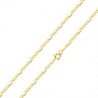 Retiazka zo zlata 585 - vzor Figaro, tri oválne a jedno podlhovasté očko, 500 mm GG101.32