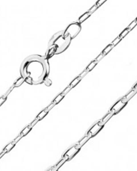 Strieborná retiazka 925 - lesklé hladké obdĺžniky, 1,5 mm