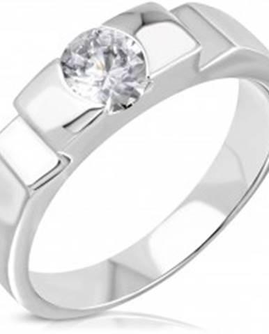 Zásnubný oceľový prsteň s vystupujúcim stredom a bočnými zárezmi D8.13 - Veľkosť: 50 mm
