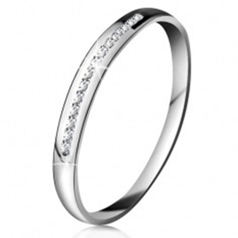 Briliantový prsteň v bielom...