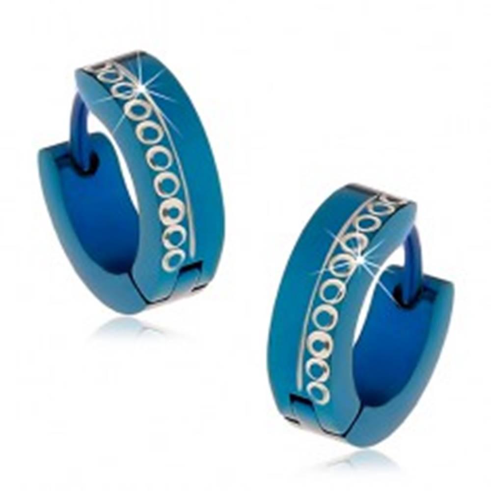 Modré kĺbové náušnice z chi...