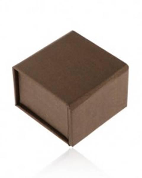 Darčeková krabička na prsteň alebo náušnice, hnedá s perleťovým leskom, magnet Y55.14