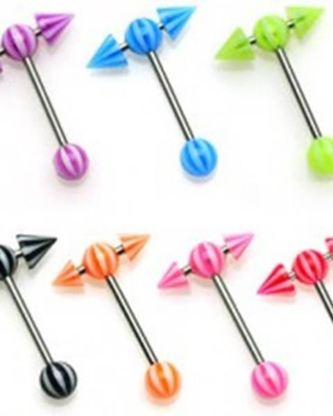 Piercing činka - farebná UV šípka - Farba piercing: Červená