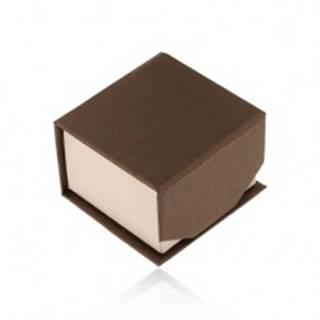 Hnedo-béžová krabička na prsteň alebo náušnice, ligotavý povrch, magnet Y09.01