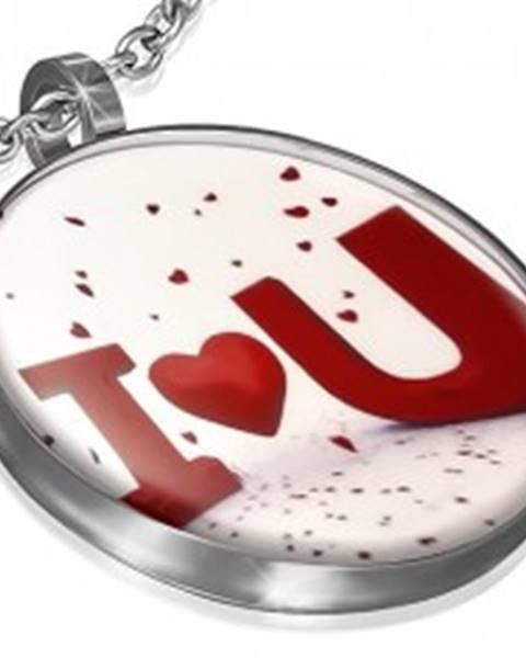 Kruhový prívesok s vyznaním lásky a glazúrou