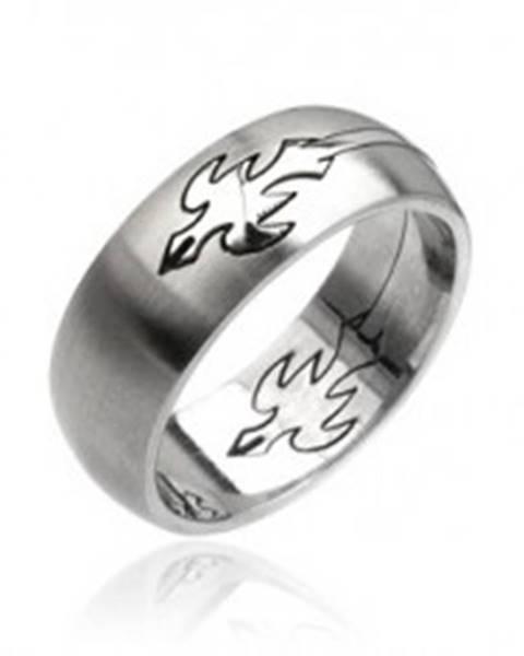 Prsteň z ocele - letiaci orol - Veľkosť: 59 mm