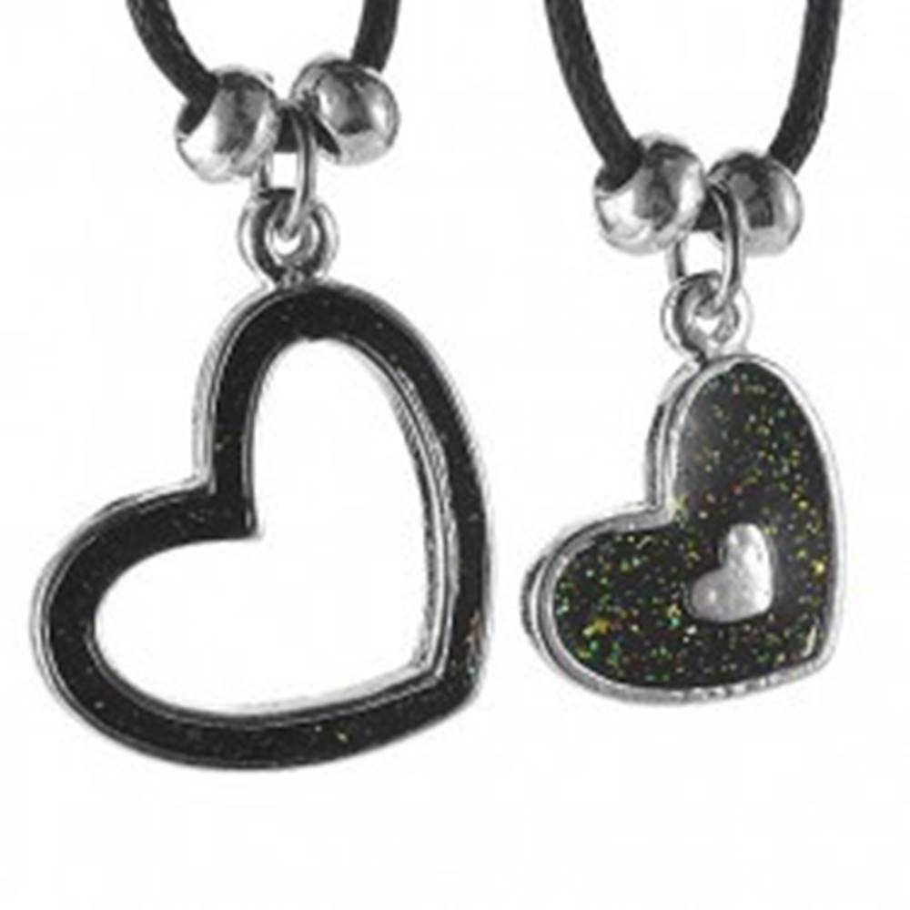 Dvojitý náhrdelník - srdieč...