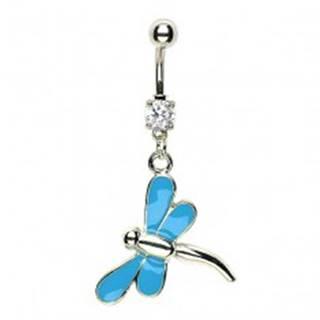 Piercing do pupku vážka - modré krídla