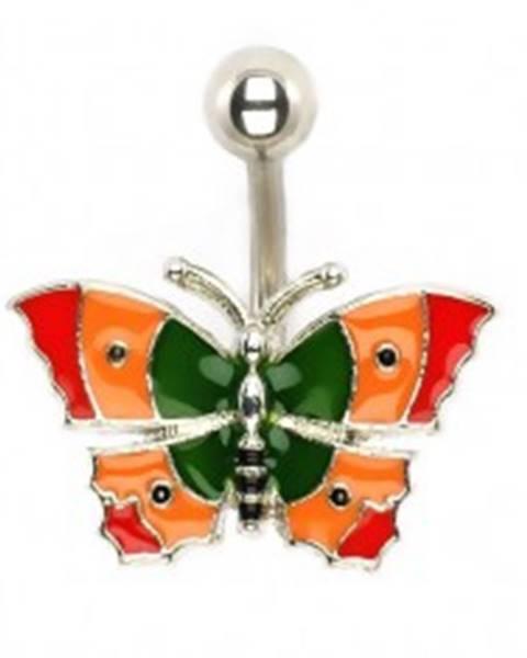 Piercing do bruška - pestrofarebný motýľ I11.30