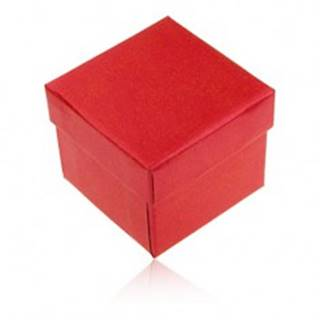 Darčeková krabička na prsteň a náušnice, červená farba s perleťovým leskom