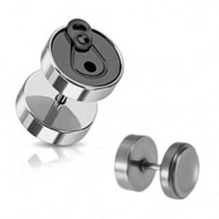 Fake piercing do ucha z ocele - čierna plechovka PC30.21