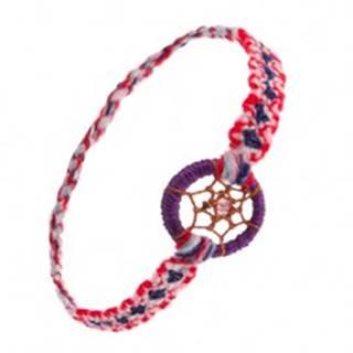 Farebný náramok na ruku z mäkkej vlny, krúžok, pavučinka s korálkou, štýl lapač snov