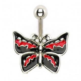 Piercing do brucha - rockový motýľ