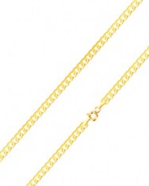 0ffe1a7a1 Lesklá retiazka v žltom 14K zlate - ploché, sériovo napájané očká, 500 mm  GG187