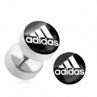 Falošný plug do ucha z chirurgickej ocele, logo športovej značky