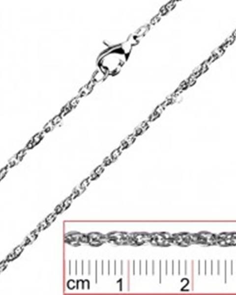 Retiazka z ocele - točené, husto spojené oválne očká - Hrúbka: 2 mm