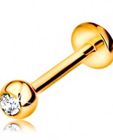 Diamantový zlatý 585 pierci...