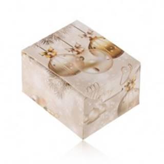 Vianočná krabička na darček - prsteň, náušnice alebo prívesok, Merry Christmas