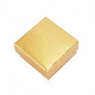 Darčeková krabička na dva prstene alebo náušnice - popínavá rastlina, zlatá farba Y05.15