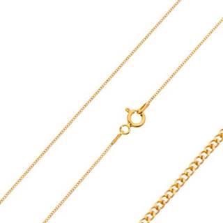 Zlatá 585 retiazka - husto spájané drobné očká, 600 mm