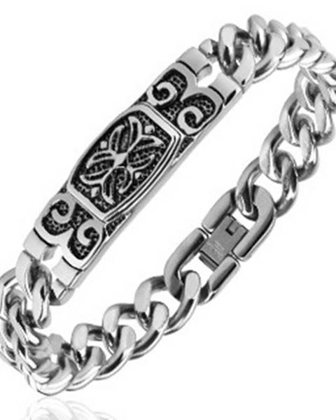 Náramok z ocele - známka s keltským krížom